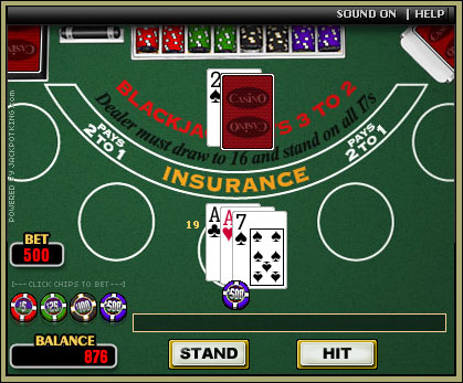 blackjack online game free fun